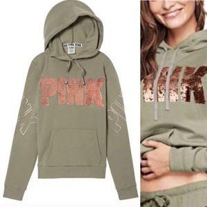 PINK Victoria Secret Bling Sequin Hoodie